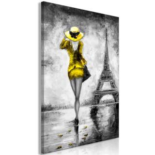 Πίνακας - Parisian Woman (1 Part) Vertical Yellow