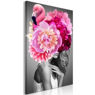 Πίνακας - Flamingo Girl (1 Part) Vertical