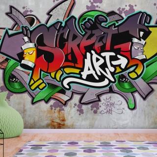 Αυτοκόλλητη φωτοταπετσαρία - Street Classic (Reggae Colours)