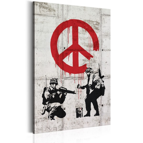 Πίνακας -  Soldiers Painting Peace by Banksy