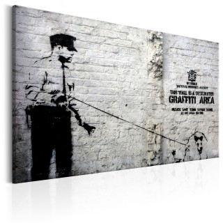Πίνακας - Graffiti Area (Police and a Dog) by Banksy