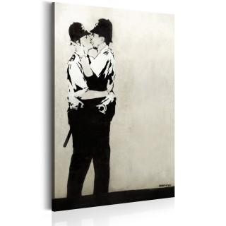 Πίνακας - Kissing Coppers by Banksy