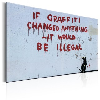 Πίνακας - If Graffiti Changed Anything by Banksy