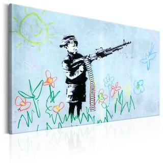 Πίνακας - Boy with Gun by Banksy