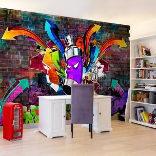 Φωτοταπετσαρία - Graffiti: Colourful attack