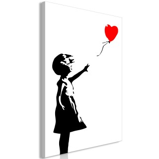 Πίνακας - Little Girl with a Balloon (1 Part) Vertical