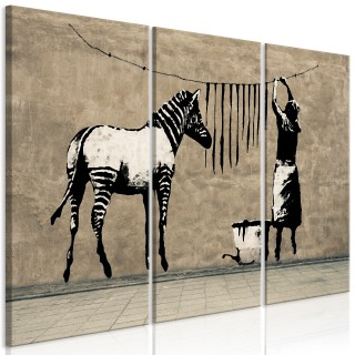 Πίνακας - Banksy: Washing Zebra on Concrete (3 Parts)