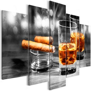 Πίνακας - Cigars and Whiskey (5 Parts) Wide