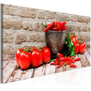 Πίνακας - Red Vegetables (1 Part) Brick Narrow