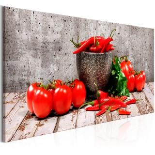 Πίνακας - Red Vegetables (1 Part) Concrete Narrow