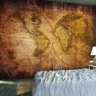 Φωτοταπετσαρία - World on old map