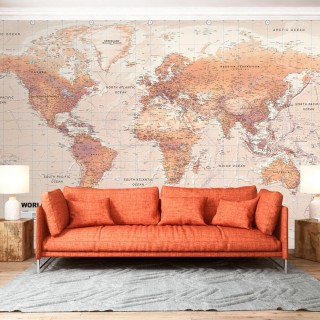 Αυτοκόλλητη φωτοταπετσαρία - Orange World