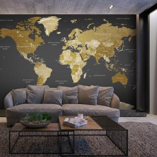 Αυτοκόλλητη φωτοταπετσαρία - World Map: Modern Geography