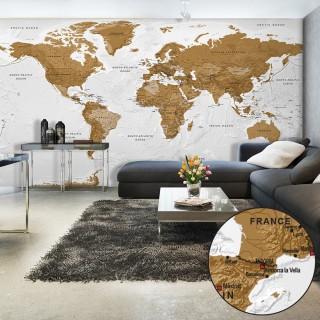 Ταπετσαρία XXL - World Map: White Oceans II