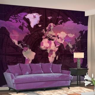 Φωτοταπετσαρία - Purple World Map