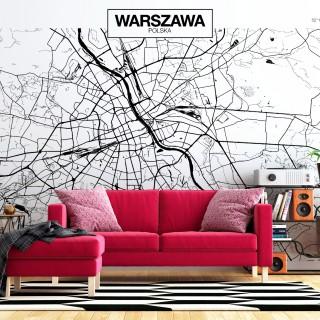 Φωτοταπετσαρία - Warsaw Map