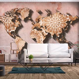 Αυτοκόλλητη φωτοταπετσαρία - Oriental Map