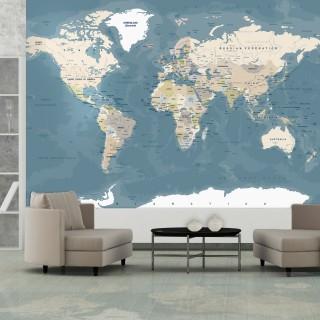 Φωτοταπετσαρία - Vintage World Map