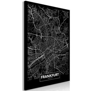 Πίνακας - Dark Map of Frankfurt (1 Part) Vertical