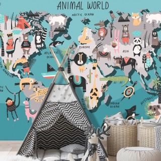 Φωτοταπετσαρία - Animal Map