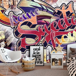 Αυτοκόλλητη φωτοταπετσαρία - Cool Graffiti