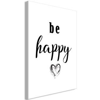 Πίνακας - Be Happy (1 Part) Vertical