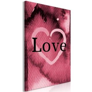 Πίνακας - Burgundy Love (1 Part) Vertical