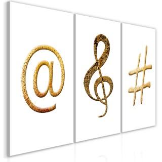 Πίνακας - Golden Signs (3 Parts)