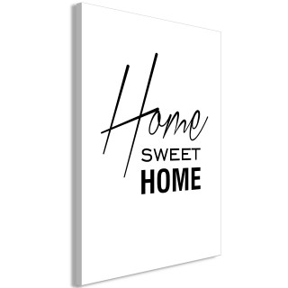 Πίνακας - Black and White: Home Sweet Home (1 Part) Vertical