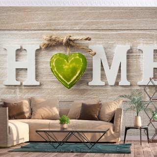 Αυτοκόλλητη φωτοταπετσαρία - Home Heart (Green)
