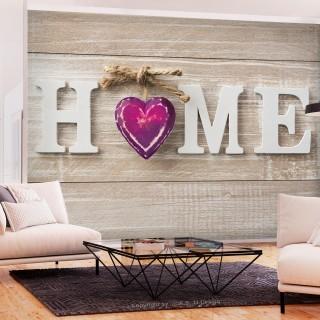 Αυτοκόλλητη φωτοταπετσαρία - Home Heart (Violet)