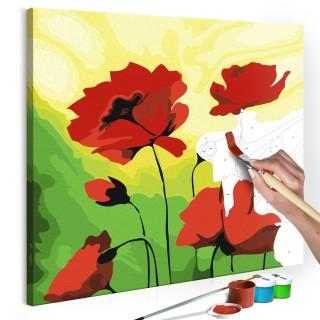 Πίνακας για να τον ζωγραφίζεις - Poppies