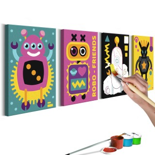 Πίνακας για να τον ζωγραφίζεις - Robots