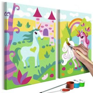 Πίνακας για να τον ζωγραφίζεις - Fairytale Unicorns