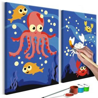 Πίνακας για να τον ζωγραφίζεις - Ocean Animals