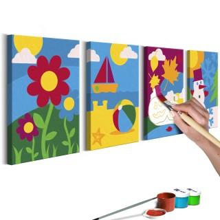 Πίνακας για να τον ζωγραφίζεις - Four Seasons