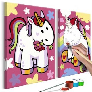Πίνακας για να τον ζωγραφίζεις - Unicorns