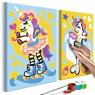 Πίνακας για να τον ζωγραφίζεις - Funny Unicorns