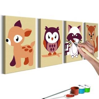 Πίνακας για να τον ζωγραφίζεις - Forest Animals
