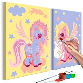Πίνακας για να τον ζωγραφίζεις - Magical Unicorns