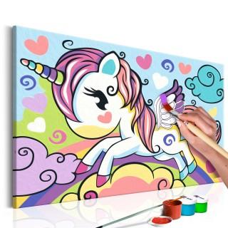 Πίνακας για να τον ζωγραφίζεις - Colourful Unicorn