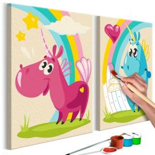 Πίνακας για να τον ζωγραφίζεις - Sweet Unicorns