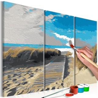 Πίνακας για να τον ζωγραφίζεις - Beach (Blue Sky)