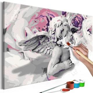 Πίνακας για να τον ζωγραφίζεις - Angel (Flowers In The Background)
