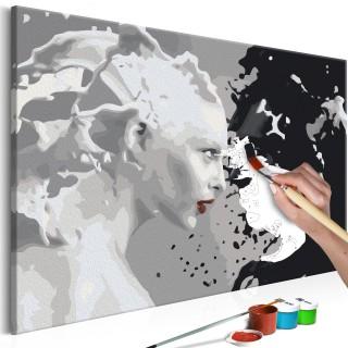 Πίνακας για να τον ζωγραφίζεις - Black & White