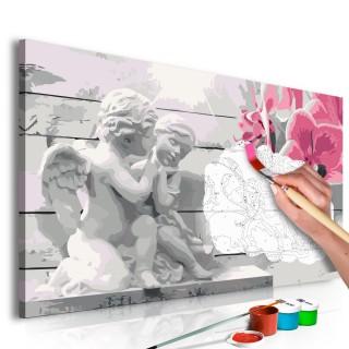Πίνακας για να τον ζωγραφίζεις - Angels (Pink Orchid)