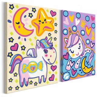Πίνακας για να τον ζωγραφίζεις - Unicorns (Good Morning & Good Night)