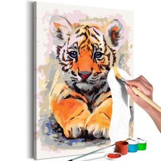 Πίνακας για να τον ζωγραφίζεις - Baby Tiger