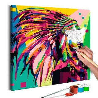 Πίνακας για να τον ζωγραφίζεις - Native American (Plume)