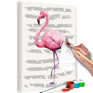Πίνακας για να τον ζωγραφίζεις - Beautiful Flamingo
